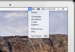 screenshot focus